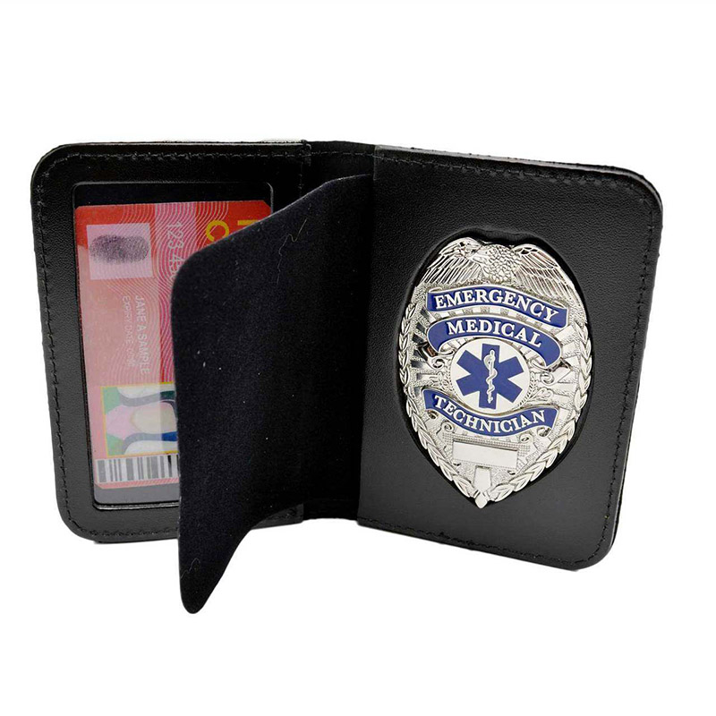 Badge wallets for EMT, police and fire fighters